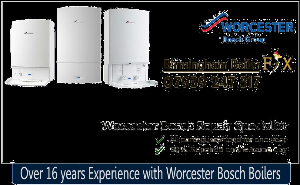 worcester bosch banner birmingham boiler fix