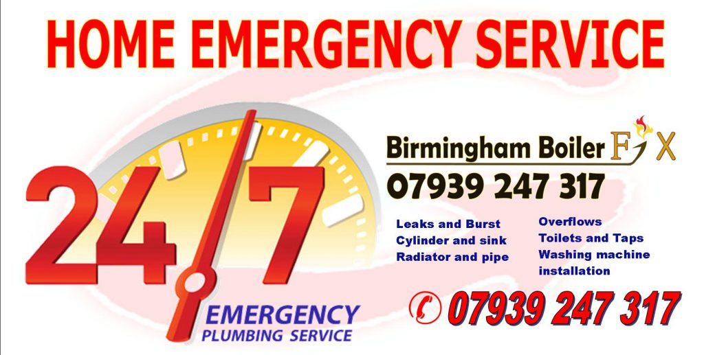 247 emergency plumbing service birmingham boiler fix